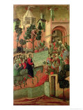 Maesta: Entry into Jerusalem, 1308-11 Reproduction procédé giclée par Duccio di Buoninsegna