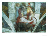 Sistine Chapel Ceiling: the Prophet Jeremiah (Pre Resoration) Giclee Print by Michelangelo Buonarroti