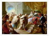 The Catholic King and Queen with an Embassy from the King of Fez Giclee Print by Vicente Lopez y Portana