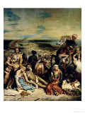 Scenes from the Massacre of Chios, 1822 Giclee Print by Eugene Delacroix