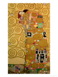 Fulfillment, Stoclet Frieze, c.1909 Giclée-tryk af Gustav Klimt