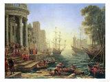 Claude Lorrain - Seaport with the Embarkation of St. Ursula Digitálně vytištěná reprodukce