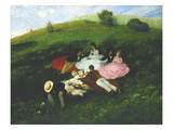 Picnic in May Giclee Print by Pal Szinyei Merse