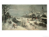 Hiver Reproduction proc&#233;d&#233; gicl&#233;e par Lucas van Valckenborch