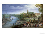 The Annual Parish Fair in Schelle, 1614 Giclee Print by Jan Brueghel the Elder