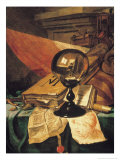 Vanitas with a Crystal Ball Gicl&#233;e-Druck von Vincent Laurensz van der Vinne