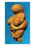 The Venus of Willendorf, Side View of Female Figurine, Gravettian Culture Upper Palaeolithic Period Giclee Print