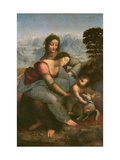 Leonardo da Vinci - Virgin and Child with St.Anne, circa 1510 - Giclee Baskı