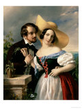 Flirtation, 1841 Giclee Print by Miklos Barabas