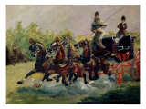 Alphonse De Toulouse-Lautrec-Monfa (1838-1913) Driving His Mail-Coach in Nice, 1881 Reproduction procédé giclée par Henri de Toulouse-Lautrec