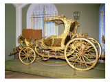 Gondola Carriage of Empress Catherine II, Carved Wood, Gilding on Gesso Ground, Painted Decoration Giclee Print