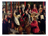 The Marriage Feast at Cana, circa 1500-03 Giclée-Druck von Gerard David