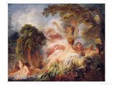 The Bathers, circa 1765 Giclée-Premiumdruck von Jean-Honoré Fragonard