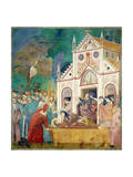 St. Clare Embraces the Body of St. Francis at the Convent of San Damiano, 1297-99 Giclee Print by  Giotto di Bondone