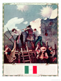 The Last Stand at the Alamo, 6th March 1836 (Illustration) Giclee Print by Newell Convers Wyeth