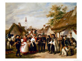 The Arrival of the Bride, 1856 Premium Giclee Print by Miklos Barabas