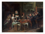 The Card Players Giclee Print by Jan Havicksz. Steen