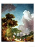 The Swing Premium Giclee Print by Jean-Honoré Fragonard