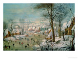 Winter Landscape Lámina giclée por Pieter Brueghel the Younger