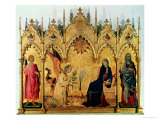 The Annunciation with St. Margaret and St. Asano, 1333 Giclée-tryk af Simone Martini
