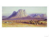 The Camel Train, Condessi, Mount Sinai, 1848 Giclee Print by Edward Lear