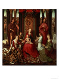 Mystic Marriage of St. Catherine and Other Saints Giclee Print by Hans Memling