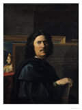 Portrait of the Artist, 1650  Lmina gicle por Nicolas Poussin