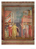 St. Francis Renounces His Father's Goods and Earthly Wealth, 1297-99 Giclee Print by  Giotto di Bondone