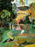 Paul Gauguin - Matamoe Or, Landscape with Peacocks, 1892 - Giclee Baskı
