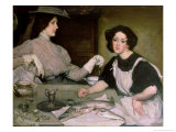 Lottie and the Lady Giclee Print by George Washington Lambert