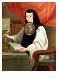 Sister Juana Ines De La Cruz (1648-95) Giclee Print by Andeas de Islas