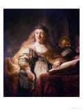 Saskia as Minerva Giclee Print by  Rembrandt van Rijn