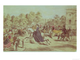 Riding in Rotten Row, Hyde Park Giclee Print by John Ritchie