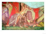 Dionysian Entourage with Dionysus Reclining into the Lap of a Woman Giclee Print