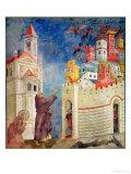The Expulsion of the Devils from Arezzo, 1297-99 Giclée-Druck von  Giotto di Bondone