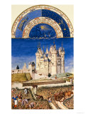September: Harvesting Grapes by the Limbourg Brothers Giclee Print