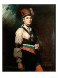 Joseph Brant, Chief of the Mohawks, 1742-1807 Reproduction procédé giclée par George Romney