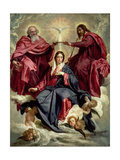 Coronation of the Virgin, circa 1641-42 Giclee Print by Diego Vel&#225;zquez