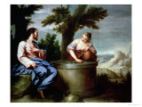 Jesus and the Samaritan Woman Giclee Print by Alonso Cano