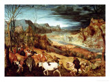 The Return of the Herd (Autumn) 1565 Giclee Print by Pieter Bruegel the Elder