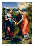 The Visitation Giclée-tryk af Raphael