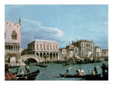 Bridge of Sighs, Venice (La Riva Degli Schiavoni) circa 1740 Giclee Print by Canaletto 