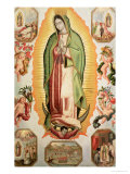 The Virgin of Guadalupe Giclée-Druck von Juan de Villegas