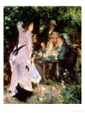In the Garden, or under the Trees of the Moulin De La Galette, 1875 Giclee Print by Pierre-Auguste Renoir