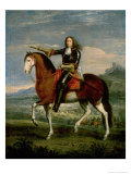 Equestrian Portrait of Henri De La Tour D&#39;Auvergne (1611-75) Marshal Turenne Giclee Print by Adam Frans van der Meulen