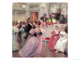 Strauss and Lanner, the Ball, 1906 Premium Giclee Print by Charles Wilda