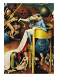 The Garden of Earthly Delights: Right Wing of Triptych, Detail of Blue Bird-Man on a Stool, c. 1500 Giclee Print by Hieronymus Bosch