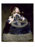 Infanta Margarita (1651-73) in Blue, 1659 Giclee Print by Diego Velázquez