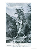 "Papageno: ""I Am the Birdcatcher, Yes! Always Cheerful, Fiddle-Di-I, Fiddle-Di-Da!"" Premium Giclee Print by Johann Heinrich Ramberg"