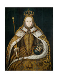 Queen Elizabeth I in Coronation Robes, circa 1559 Giclee Print